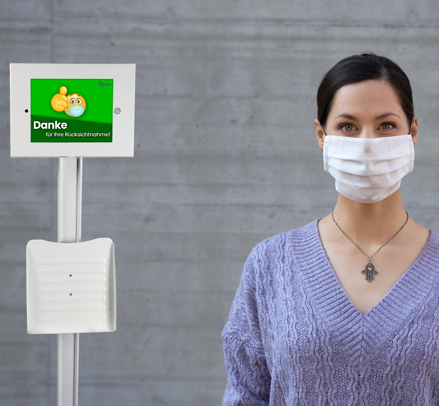 tipster 3 und Frau mit Maske